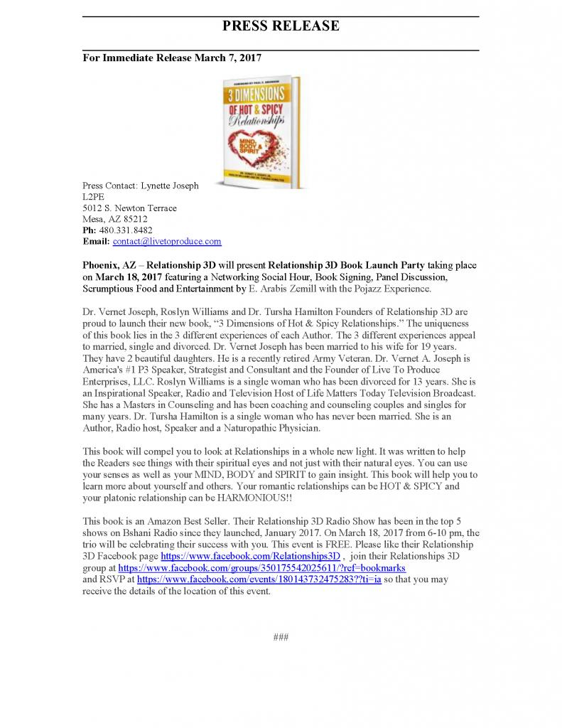3DOHSR Press Release